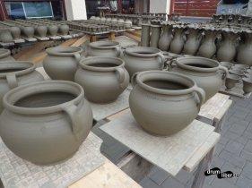 Ceramica neagră, la uscat