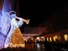 Decorațiuni de iarnă în Brașov