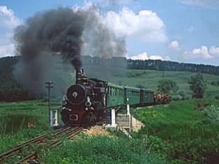 Tren cu aburi - vedere veche