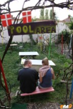 Grădina de la Hostel Costel din Timișoara