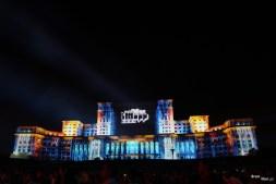 Proiecții animate pe Palatul Parlamentului (Casa Poporului)