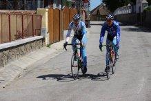 La penultima vizită am găsit și doi bicicliști până la Sibiel