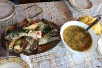 Mâncare cu pește, la Letea
