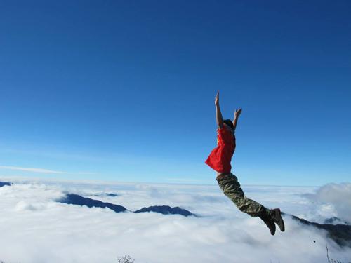 Khoảnh khắc khi chạm mây Tà Chì Nhù