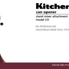 Kitchen Aid Mixer Cover Best Damascus Knives Kitchenaid® Co Can Opener Attachment