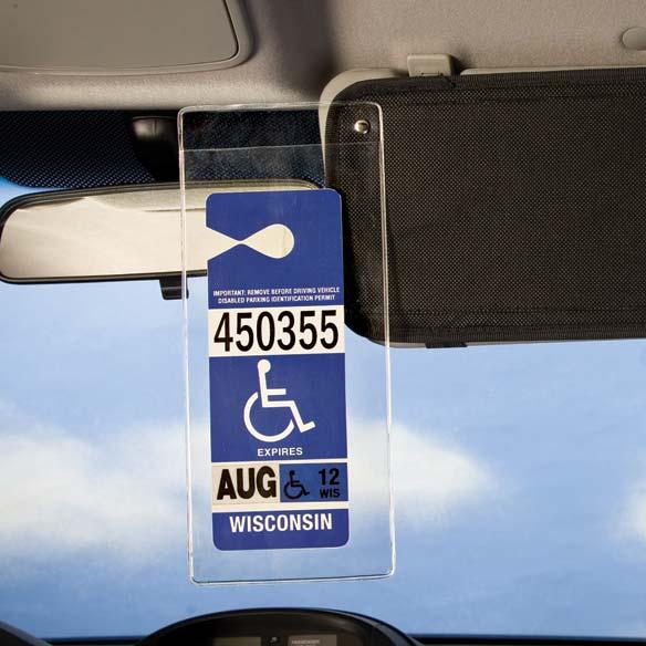 Handicap Visor Pocket  Handicap Placard Holder  Easy