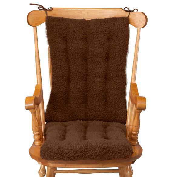 Sherpa Rocking Chair Cushion Set  Rocking Chair Pads