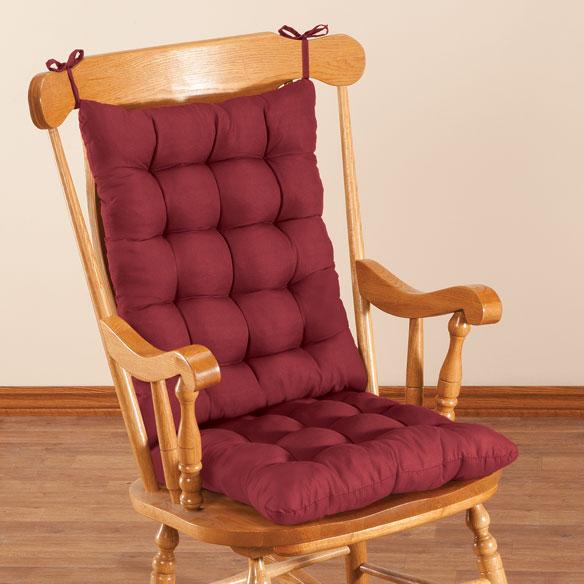 rocking chair pad set office informa microfiber cushion by oakridge comforts walter drake view 2