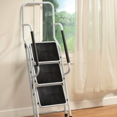 Folding Chair Ladder Handicapped Shower Step With Handles By Livingsure - Easy Comforts