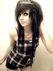 scene hairstyles women cool emo