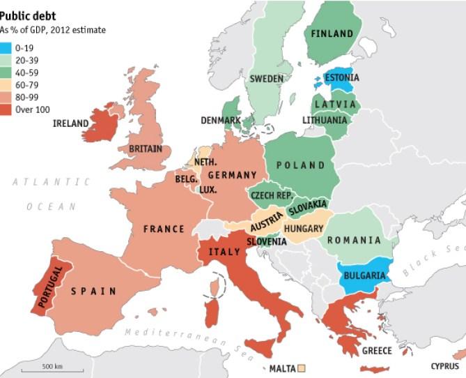 new5% - Deuda pública europea sobre PIB