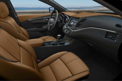 small resolution of the interior design is sharp though materials quality in some places is underwhelming leather upholstery comes standard on the impala premier