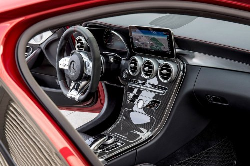 small resolution of  cruise control buttons from other mercedes models the standard 7 inch central infotainment screen remains but a 10 3 inch screen replaces the previous