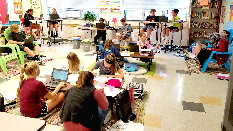 A 7th Grade Teachers Shift to Flexible Seating  Edutopia