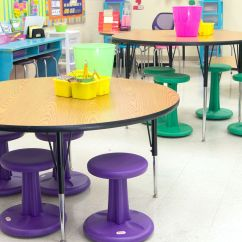 Classroom Organizer Chair Covers Wheelchair Lift For Truck Flexible Classrooms Assembly Required Edutopia First Grade Teacher Ashley Rice Broomfield Uses Different Table Heights To Cater Her Students
