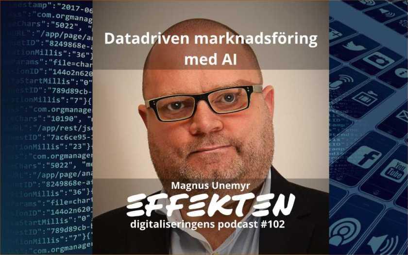 datadriven marknadsföring med AI. Magnus Unemyr