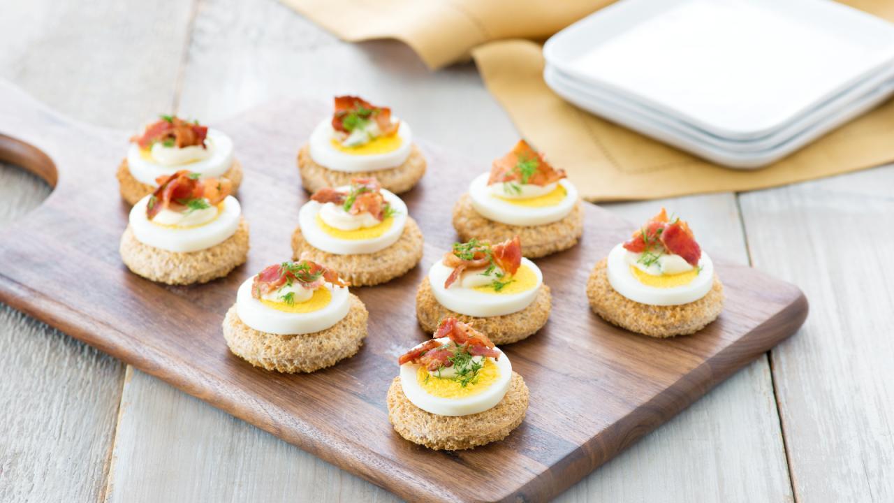 Egg And Bacon Canaps Eggsca