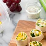 Egg Salad Pinwheel Wraps Recipe Get Cracking