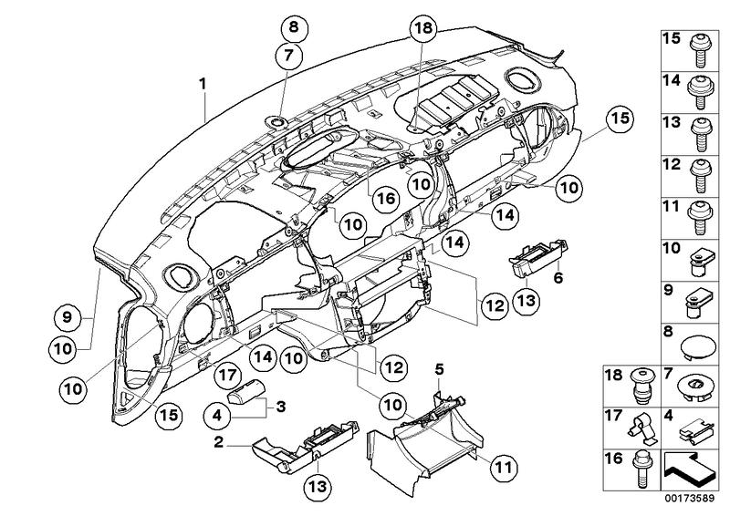 2006 Mini Cooper Fuse Box Driver Assembly