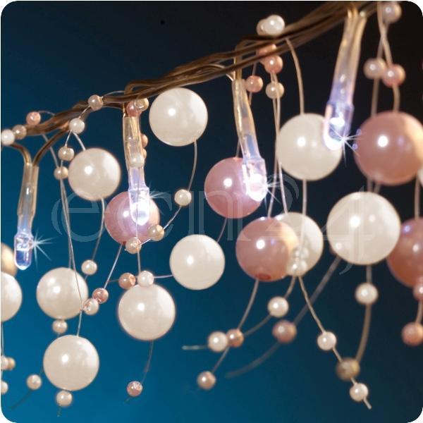LED Lichterkette mit Perlen als Tischdeko 15m lang  eBay