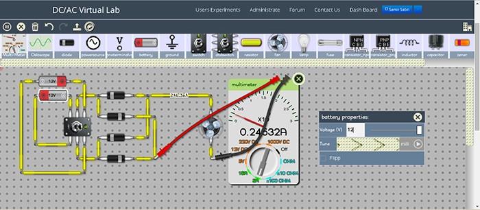 Electronic Circuits Simulator