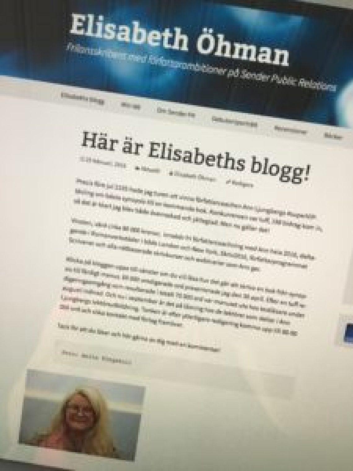 Här är Elisabeths blogg!