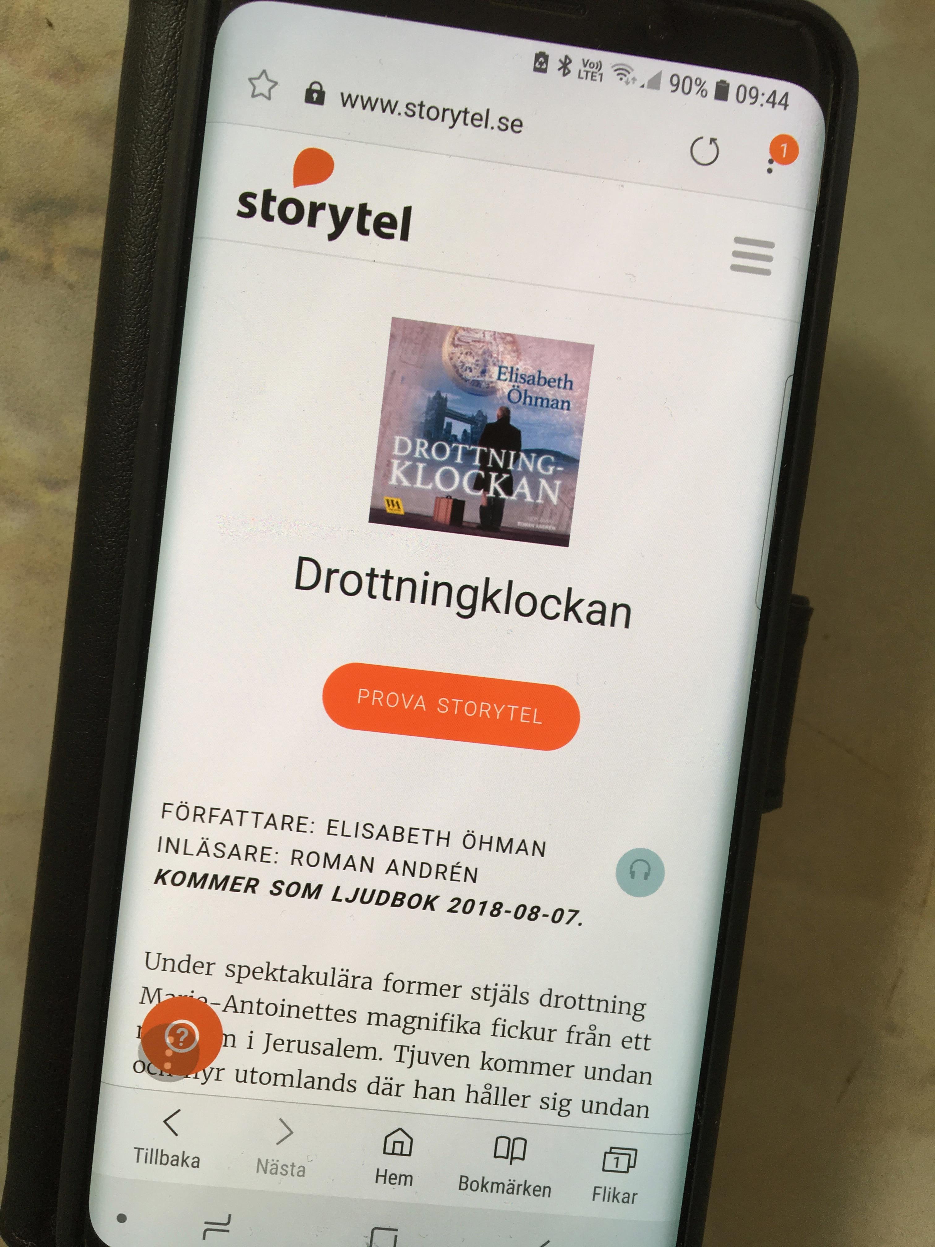 Premiär för ljudboken på Storytel idag!