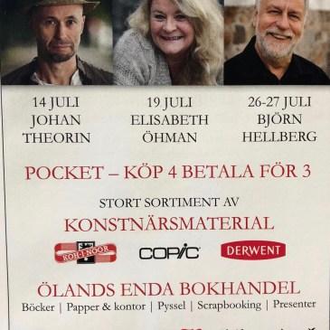 Författarbesök och signering i Borgholm!