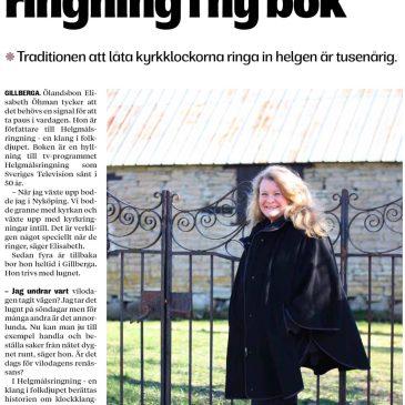 Ölandsbladet: Elisabeth Öhman hyllar helgmålsringning i ny bok