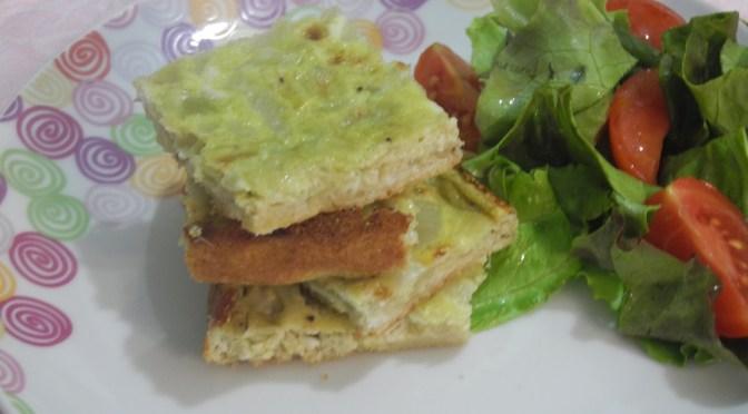 Frittata al forno con le cipolle,ricetta semplice e saporita.
