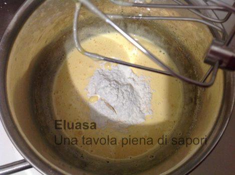 aggiunta di farina alla crema