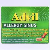 ADVIL ALLERGY SINUS (ibuprofen, chlorpheniramine maleate ...