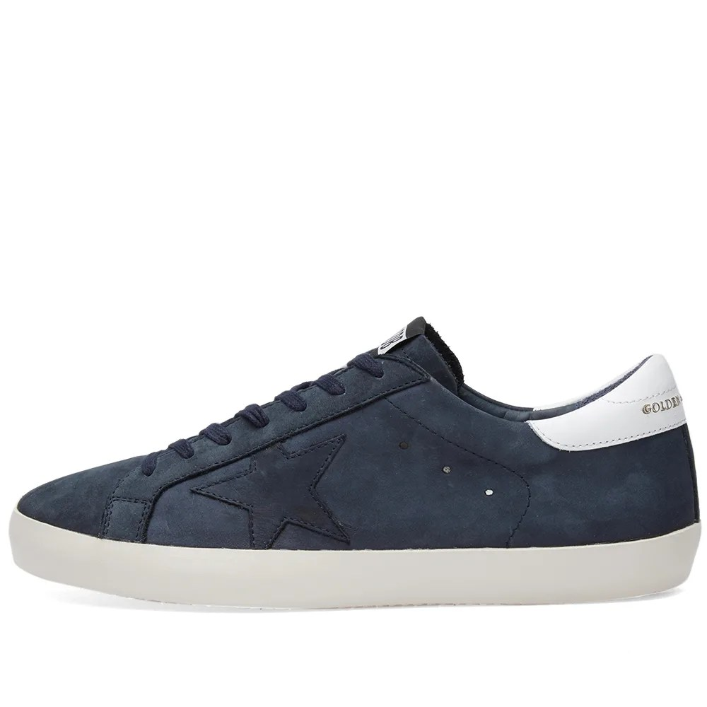 Golden Goose Deluxe Brand Superstar Clean Leather Sneaker Navy & White | END.