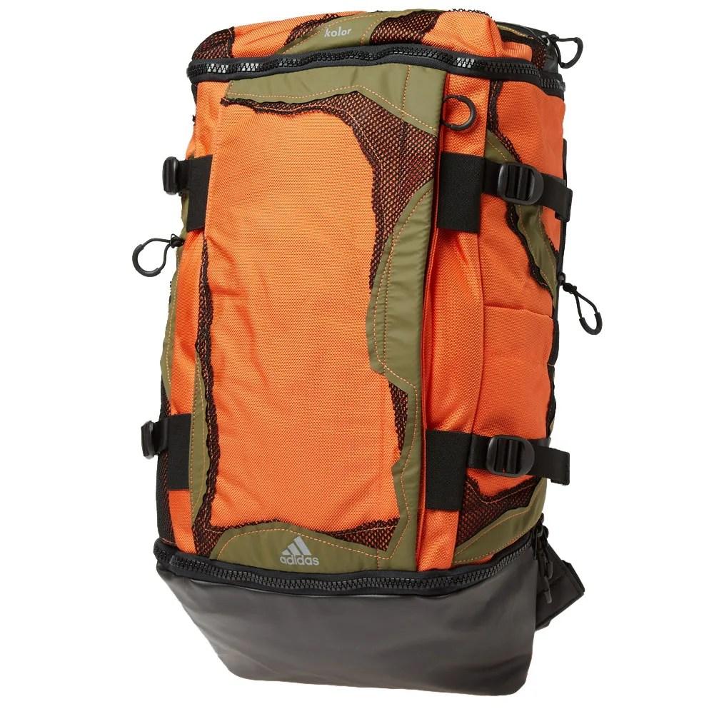 Adidas x Kolor OPS Backpack Orange & Black | END.