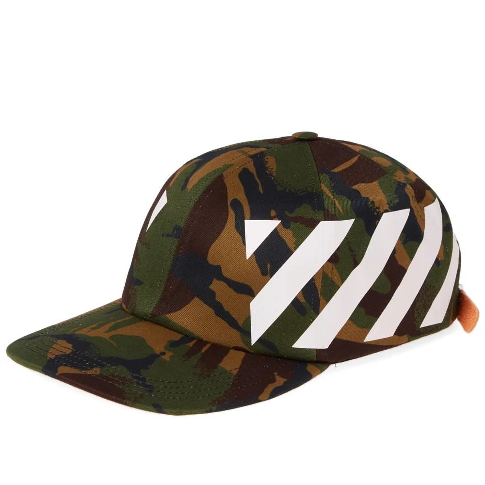 off white diagonal cap