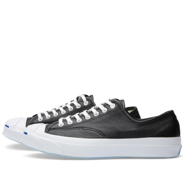 Converse Jack Purcell Signature Leather Black & White End