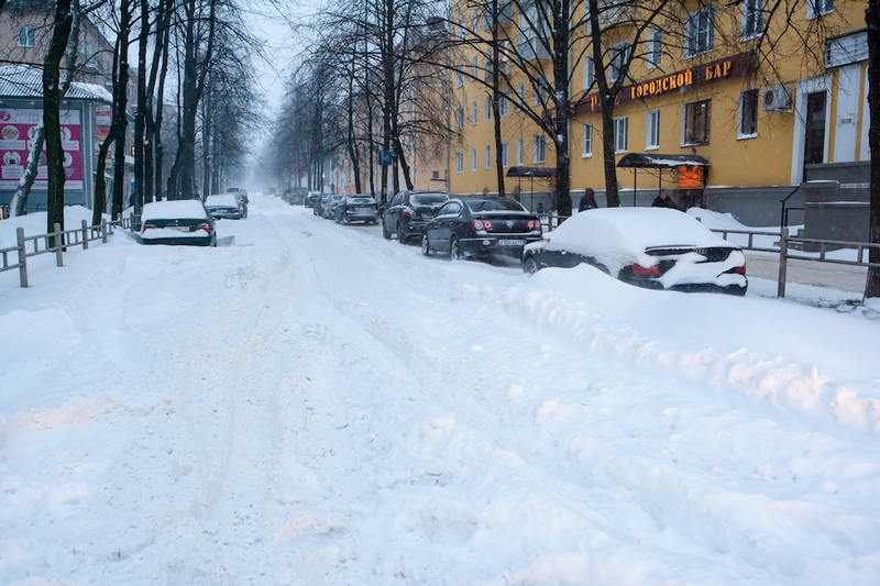 Russian City Petrozavodsk Under Heavy Snow Falls English Russia