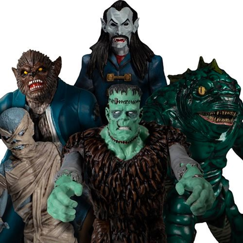 Mezco's Monsters Tower Fear 5 Points Action Figures Set