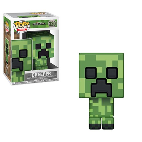 minecraft creeper pop vinyl