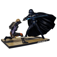 Star Wars McQuarrie Luke Skywalker vs. Darth Vader Statue ...