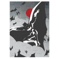 Justice League Batman Words MightyPrint Wall Art Print ...