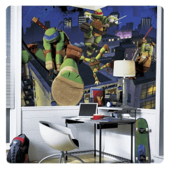 Ninja Turtles Chair Wrestling Chairs Teenage Mutant Rail Giant Ultra Strippable Prepasted Mural