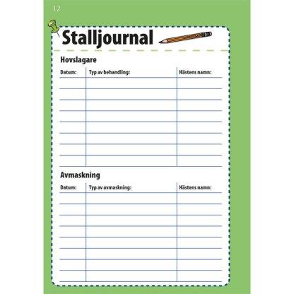 Stalljournal Ponnyboken