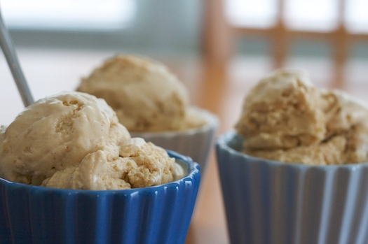 Peanut Butter Ice Cream with White Chocolate Peanut Butter Cups