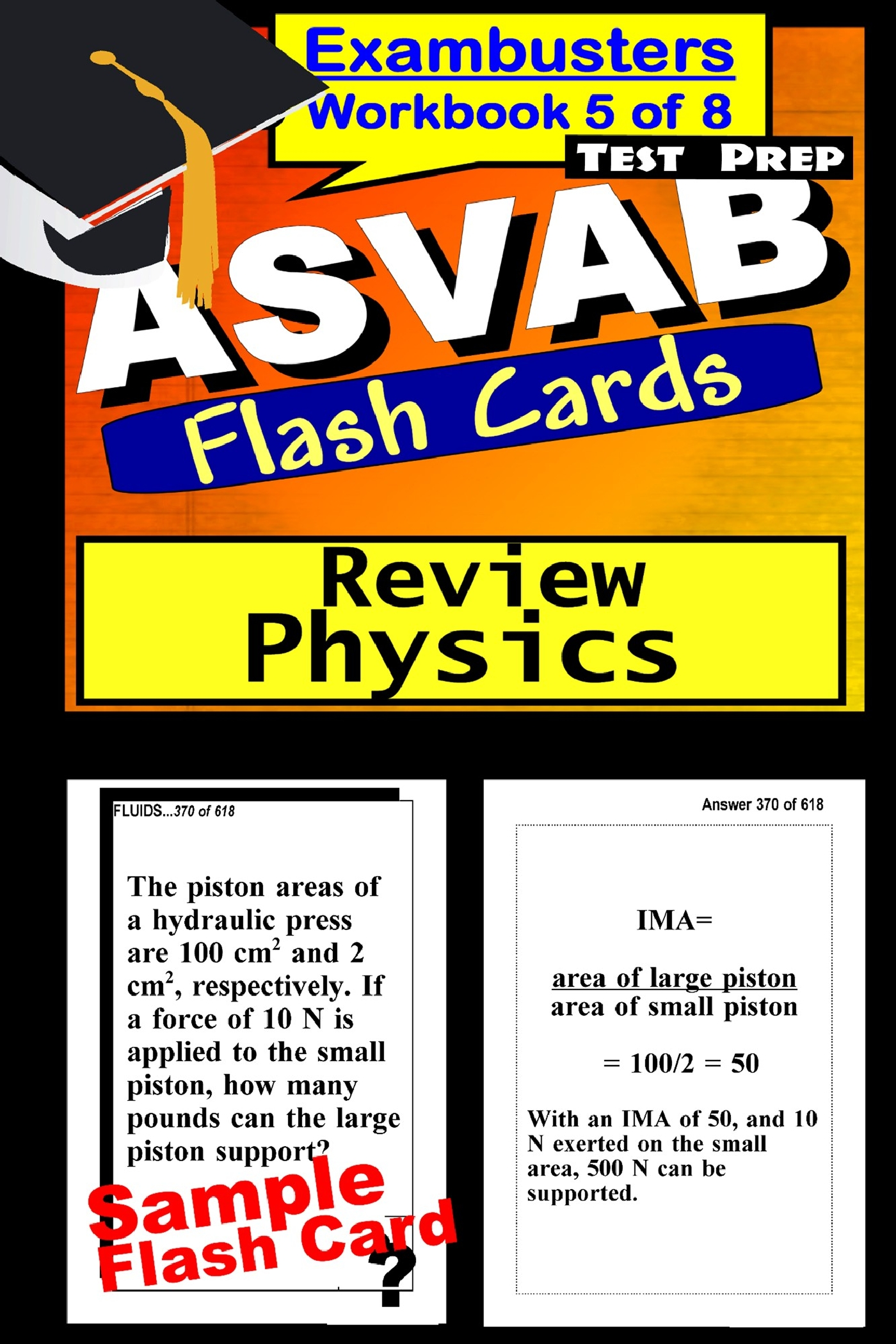 Asvab Test Prep Physics Review Exambusters Flash Cards