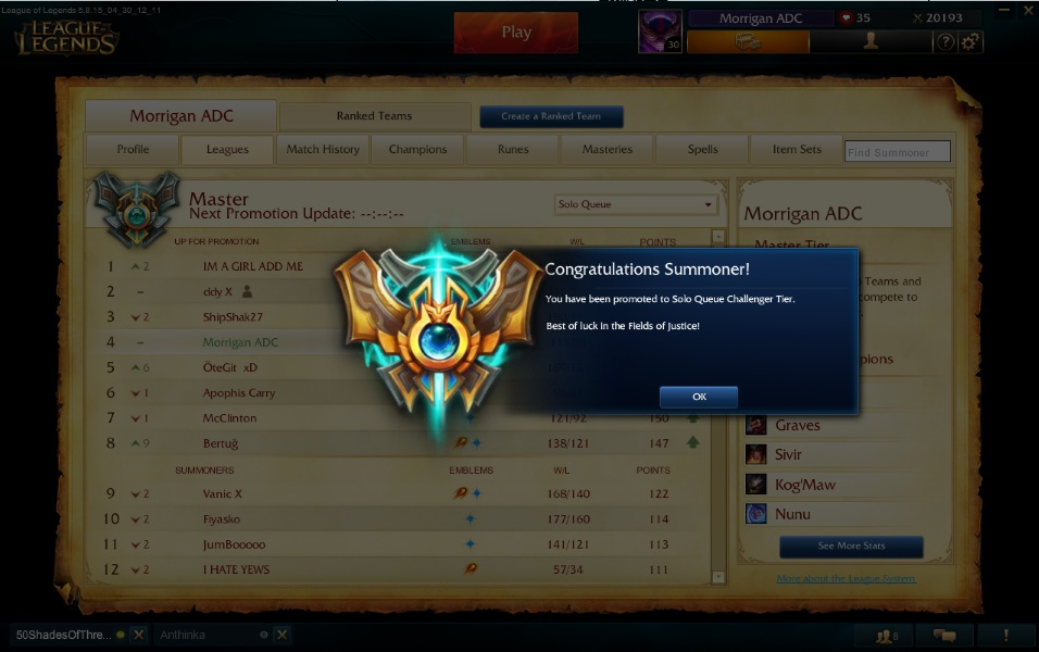3 Things Low ELO Players Can Learn From Challenger Players