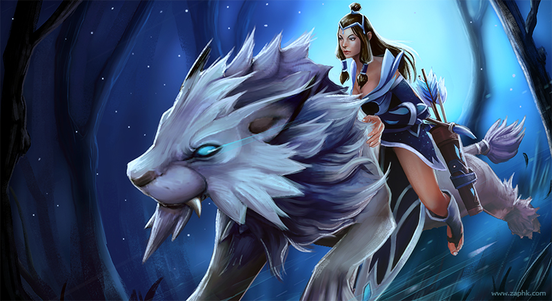 Dark Fall Wallpaper Mirana At The International 2016 The Celestial Cat Lady