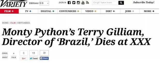 Monty Pythons Terry Gilliam Im Not Dead Yet Etcanadacom