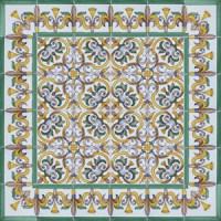 2419 Portuguese Spanish wall floor ceramic tile azulejo ...