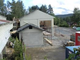 Bygget från sidan